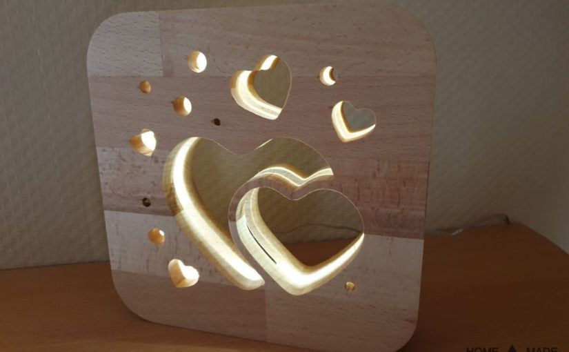 Herz LED Lampe