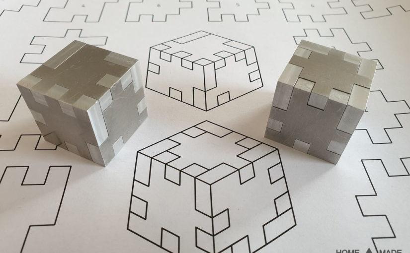 Puzzle Würfel aus Aluminium